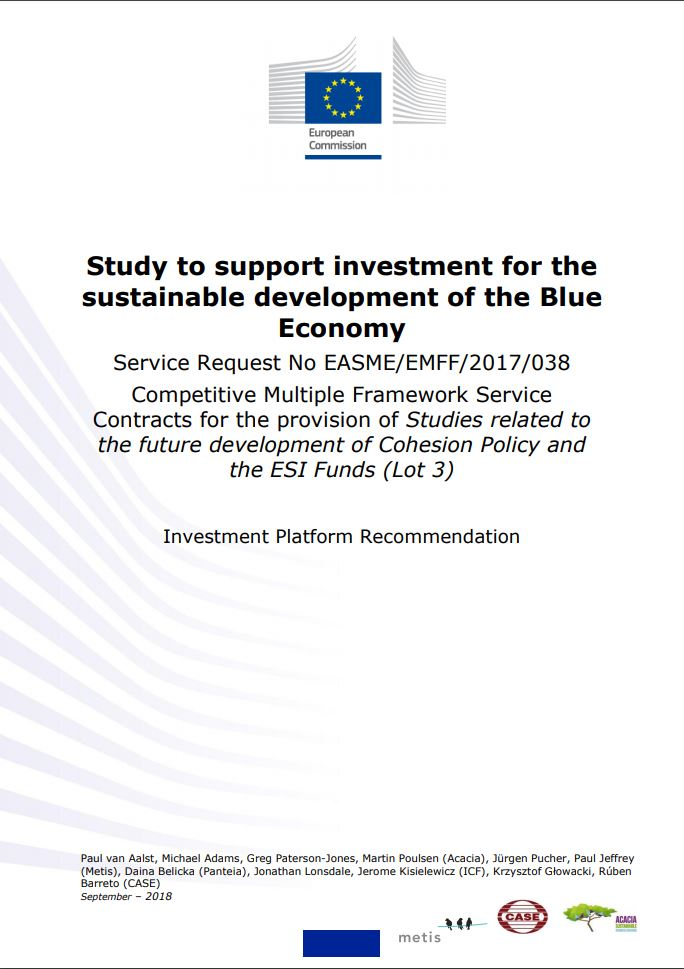 Study to support investment for the sustainable development of the Blue Economy